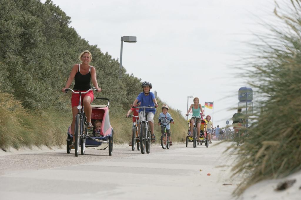 Radfahrer auf Borkum