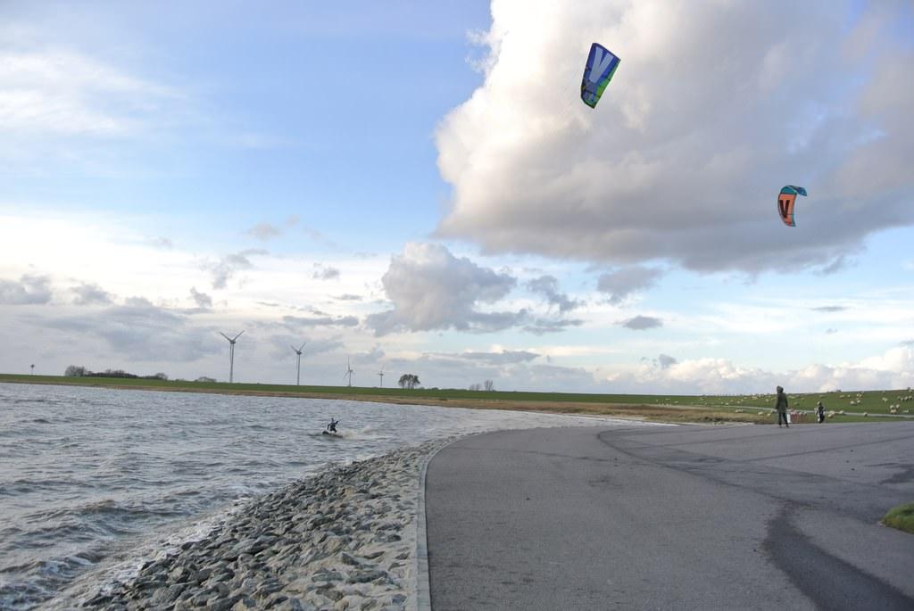 Kitesurfen an der Knock