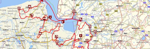 Kartenausschnitt Dollard Route