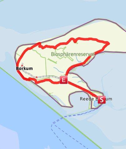 Kartenausschnitt Borkum